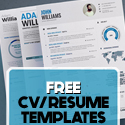 Post Thumbnail of 17 Free Clean Modern CV / Resume Templates (PSD)