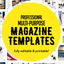 Post Thumbnail of Professional Graphic Design Magazine Templates