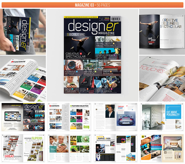 Professional Graphic Design Magazine Templates
