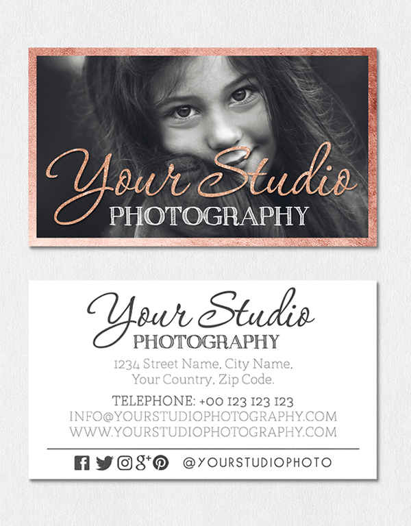 Vintage Photography Business Card Template