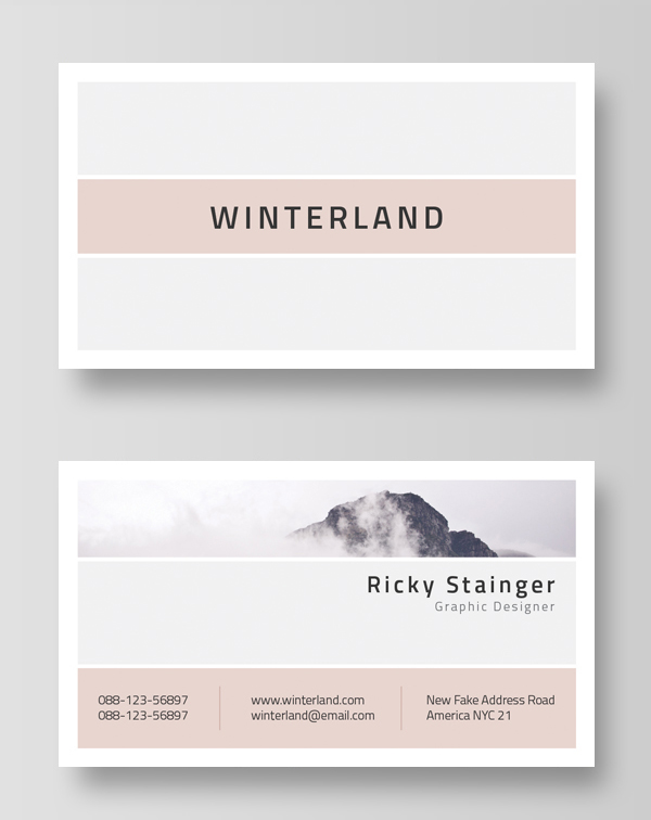 35 minimal modern business card templates design blog minimal and clean business card template cheaphphosting Gallery