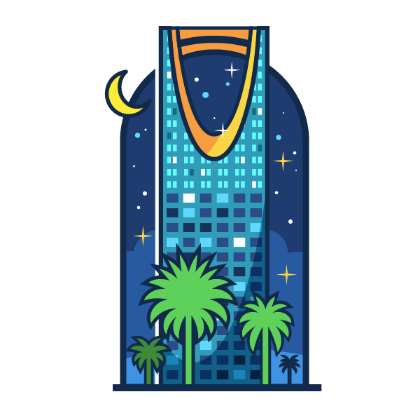 How to Create a Saudi City Landmark in Adobe Illustrator