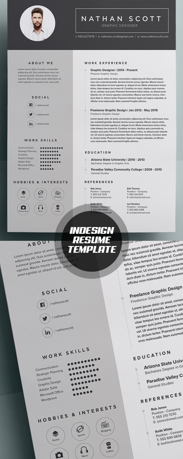 best minimal resume templates design graphic design junction modern indesign resume template middot 50 best minimal resume templates 45