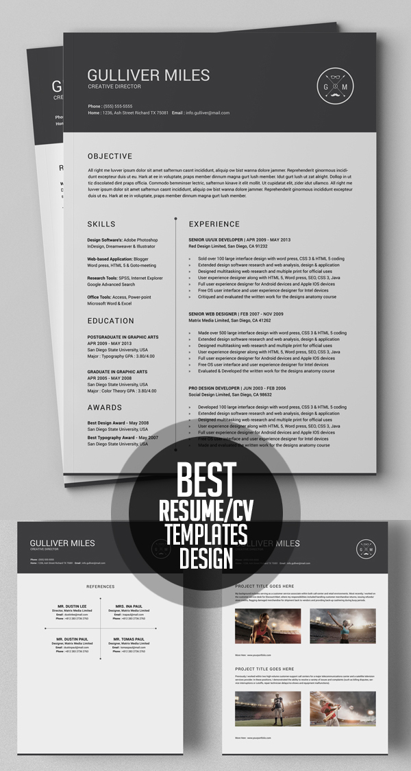 50 Best Minimal Resume Templates - 23