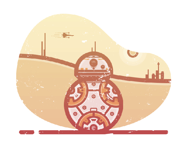 How to Create a Star Wars BB8 Illustration in Adobe Illustrator