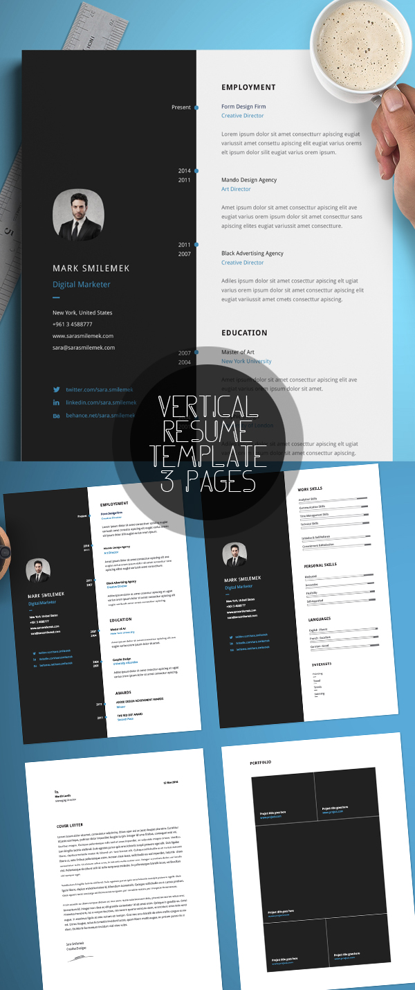 Vertical Resume Template