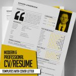 New Modern CV / Resume Templates with Cover Letter