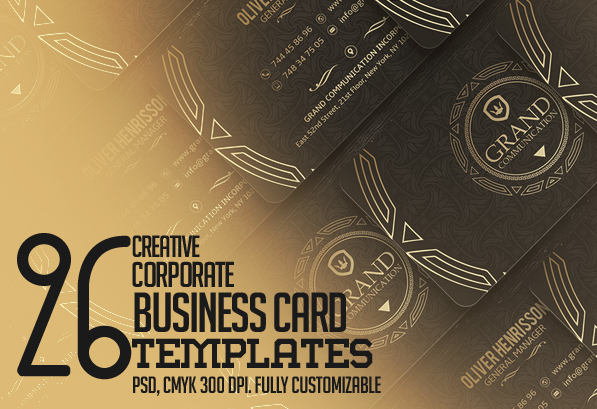 Creative Business Card PSD Templates: 26 New Design