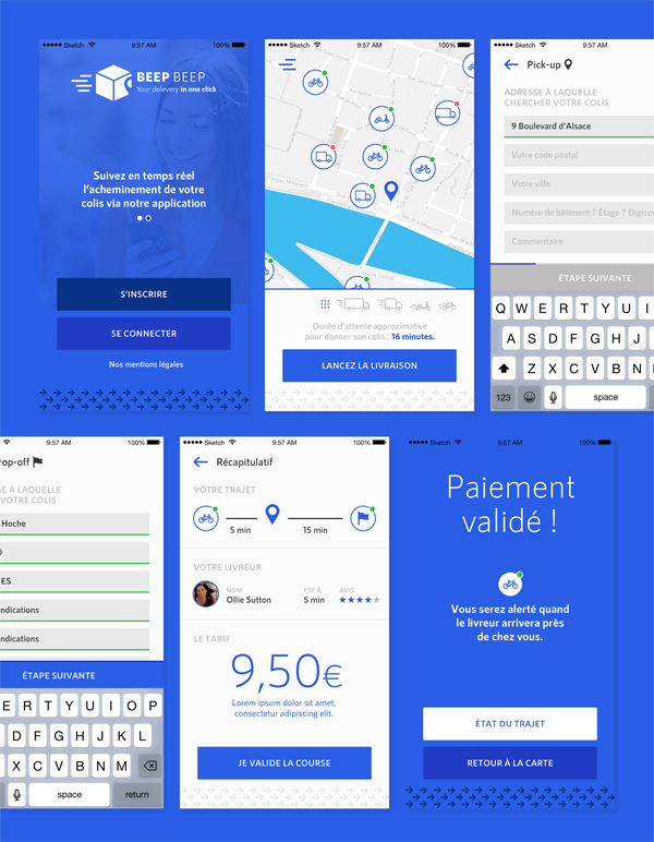 Free Delivery App UI Design