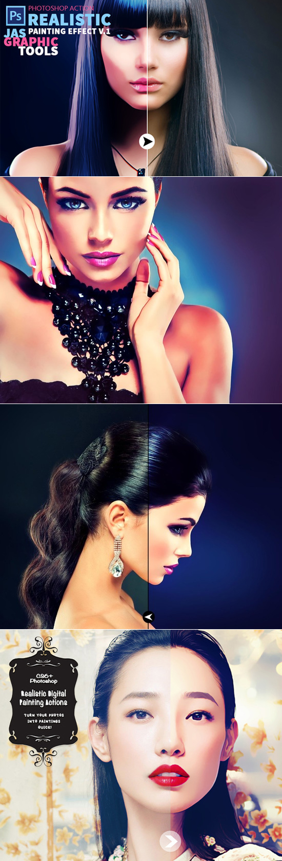 Realistic Painting Effect Photoshop Actions