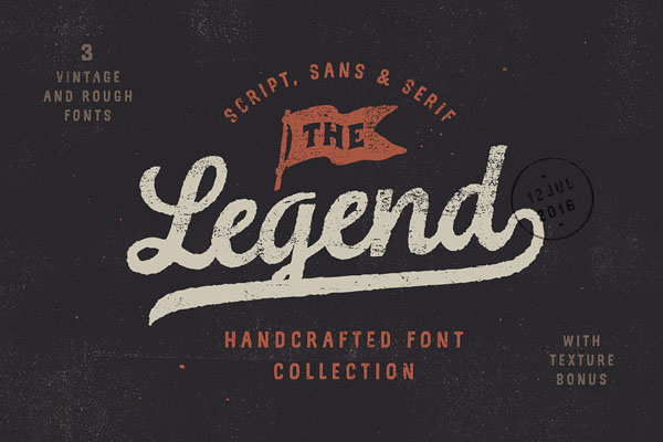 The Legend Font trio + texture bonus