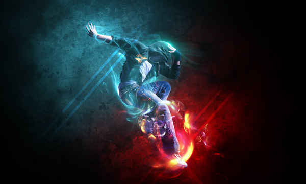 How to Combine Abstract Elements to Create a Stunning Dance Artwork in Photoshop