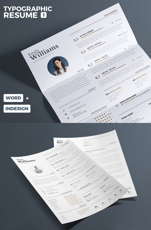 Free Typographic Resume Tempalate