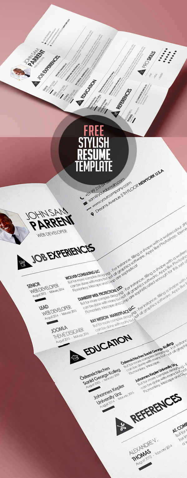 resume templates for bies graphic design junction simple and stylish design cv resume template psd eps