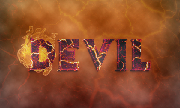 Create a Devilish 3D Text Effect in Photoshop