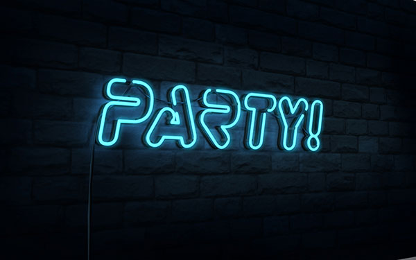 Create a 3D Neon Night Club Sign in Photoshop CS6 Extended