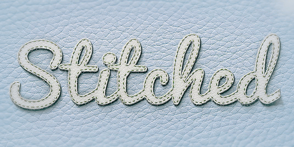How to Create Realistic Stitched Text Effect in Photoshop