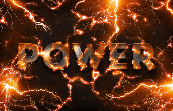 Electric Lightning Text Effect In Photoshop