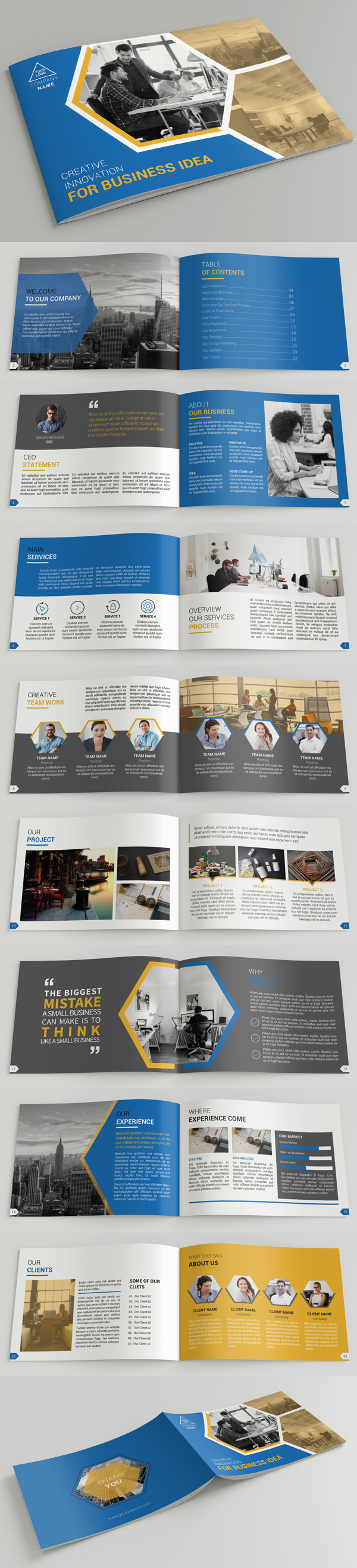 Creative A5 Company Profile Brochure Template