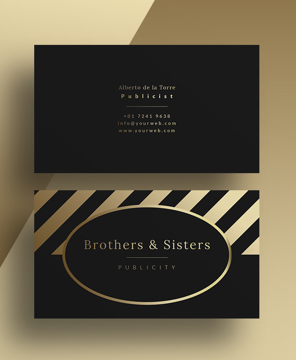 Gold Business Card PSD Template