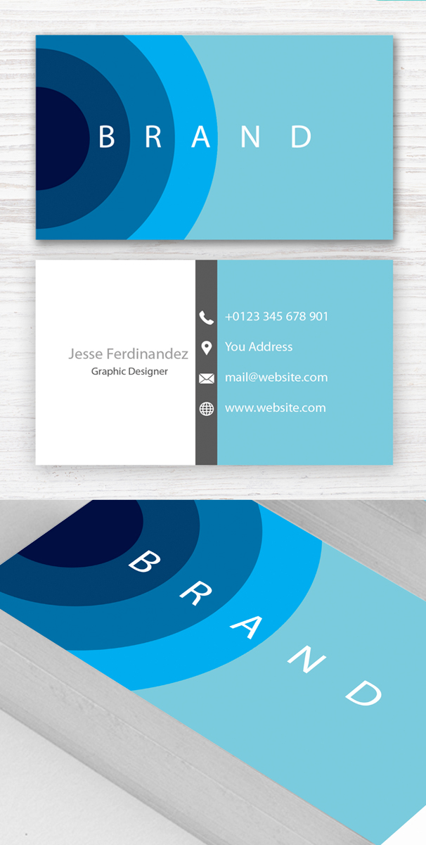 Modern Business Card PSD Templates 27 New Design