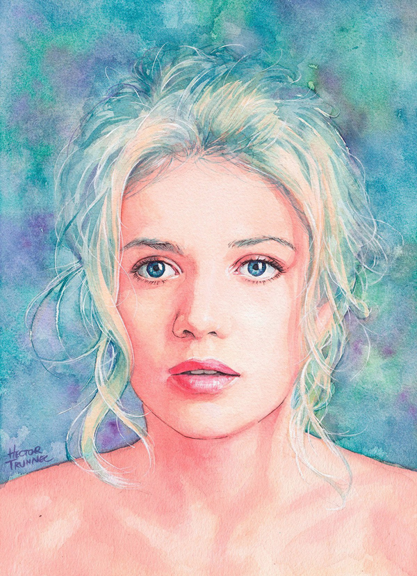 Amazing Watercolor Portrait Illustrations By Hector Trunnec - 15