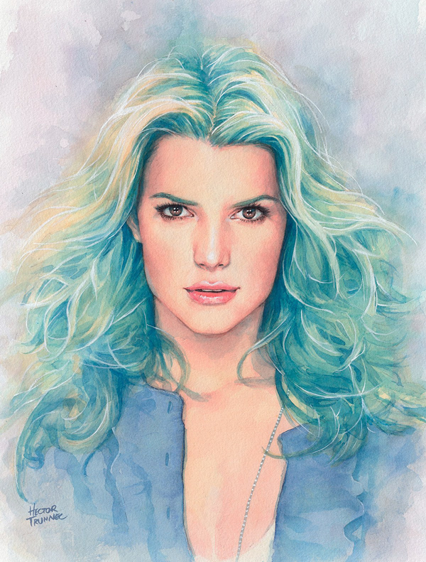 Amazing Watercolor Portrait Illustrations By Hector Trunnec - 21