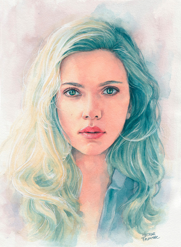 Amazing Watercolor Portrait Illustrations By Hector Trunnec ...