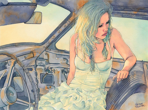 Amazing Watercolor Portrait Illustrations By Hector Trunnec - 9