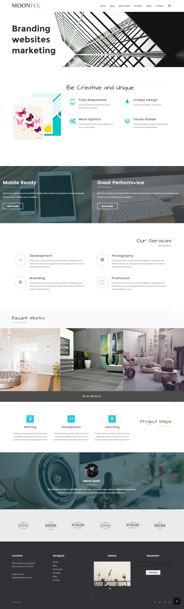 Moonfly - Multipurpose WordPress Theme