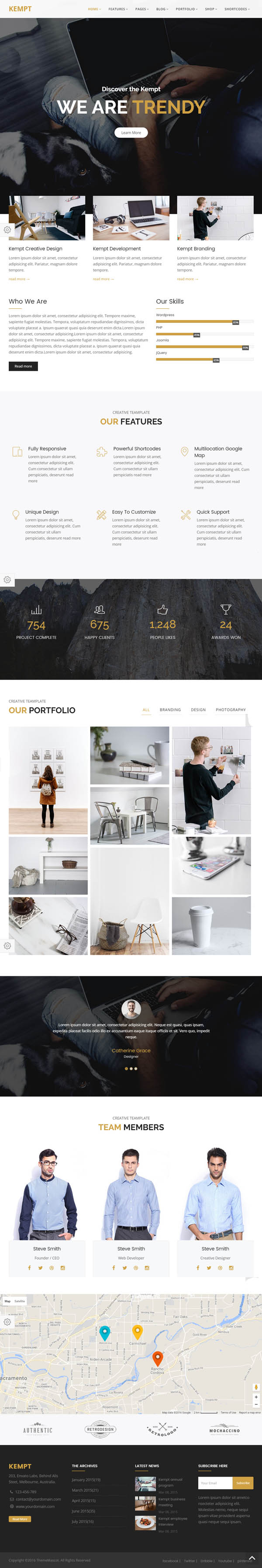 Kempt - Creative Multi Concept HTML5 Template