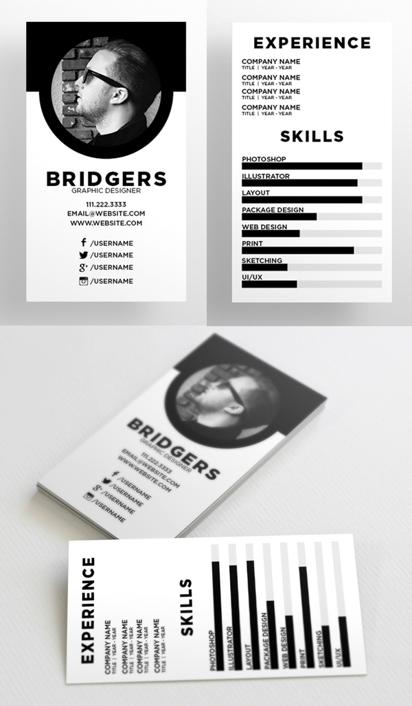 The Resume - Business Card Template
