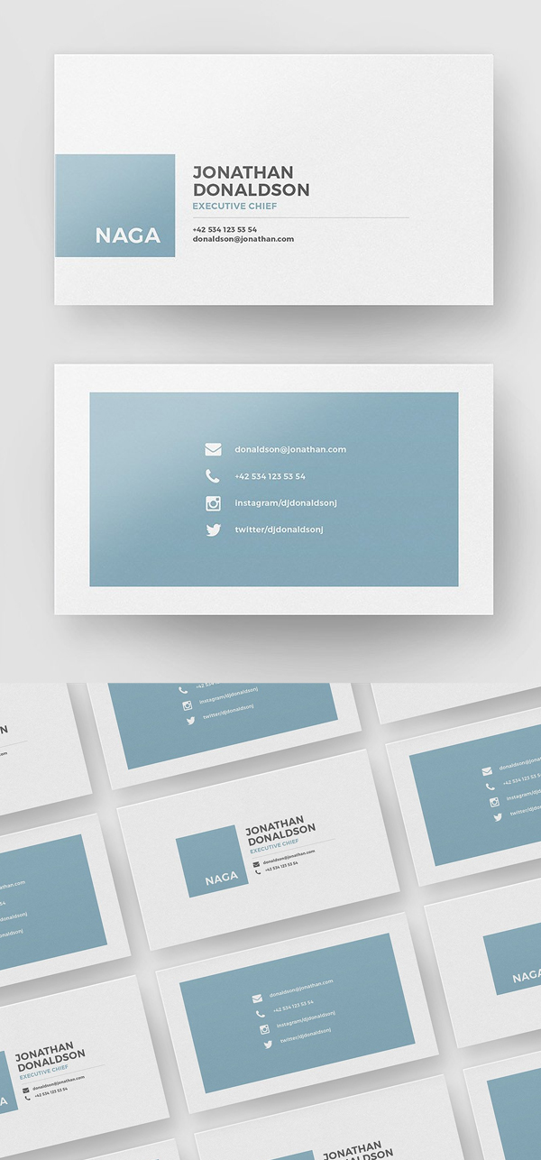 35 minimal modern business card templates graphics design