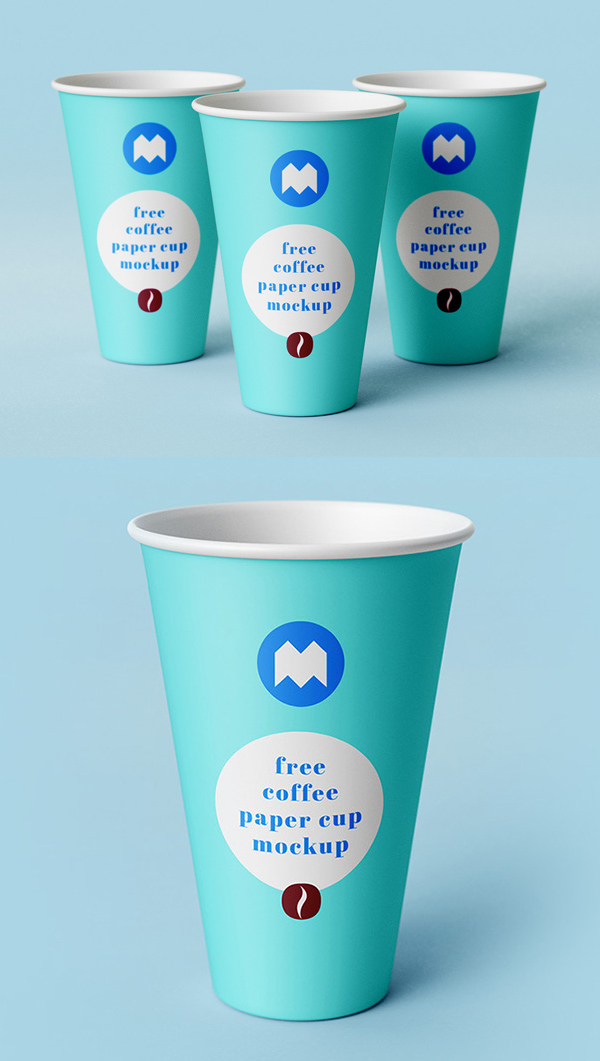 Free Coffee Paper Cup PSD Mockup