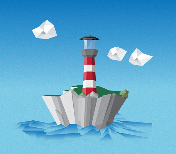 How to Create Low Poly Lighthouse Scene in Adobe Illustrator