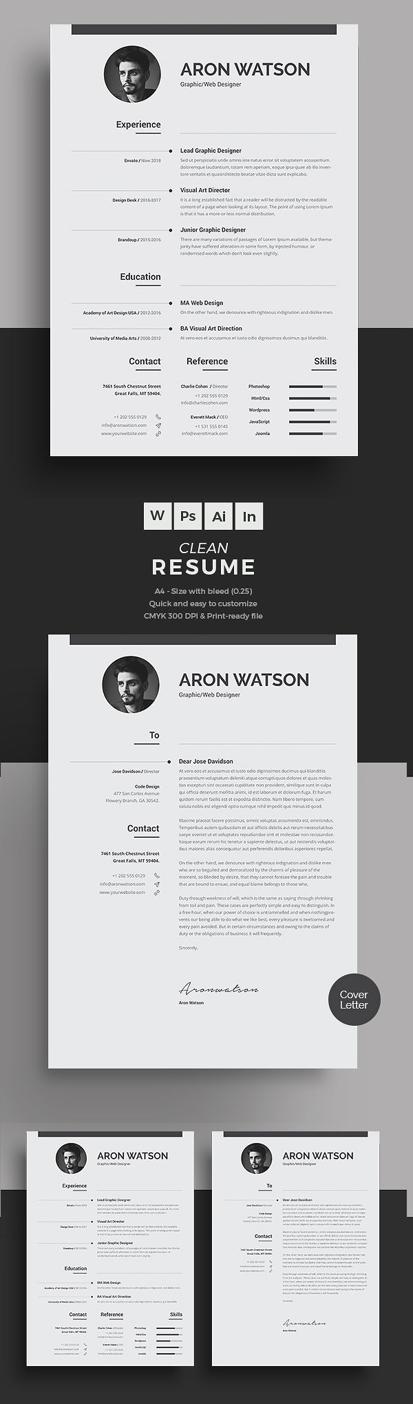 50 Best Minimal Resume Templates - 12