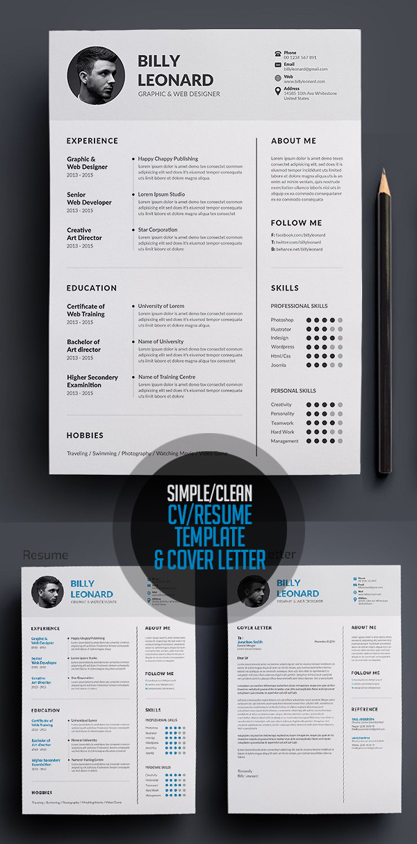 50 Best Minimal Resume Templates - 10