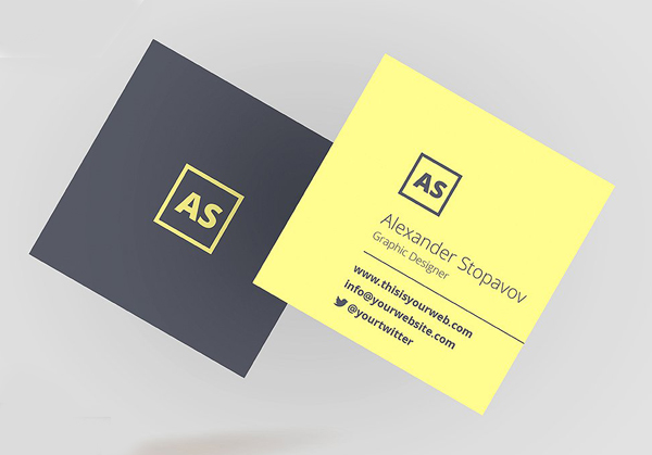 Square Executive - Business Card