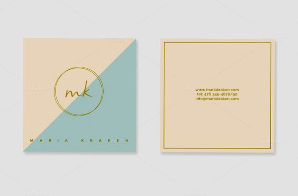 Mini Pre-Made Business Card Template