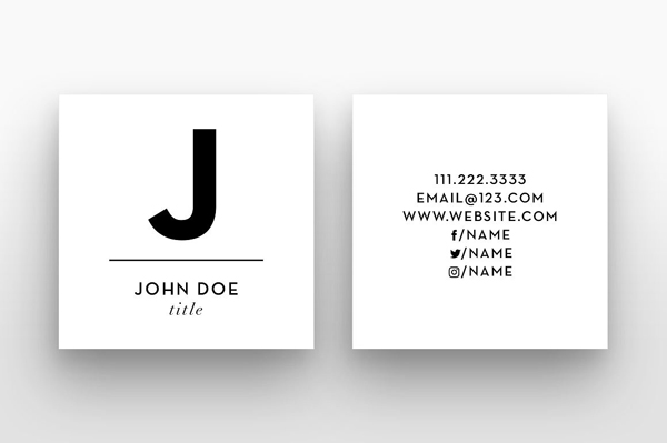 Square Business card with Social Media