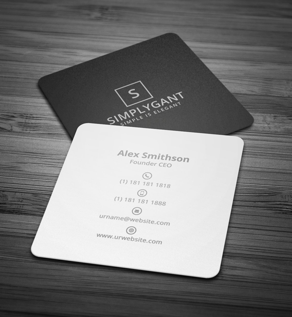 Mini Square Minimal Business Card