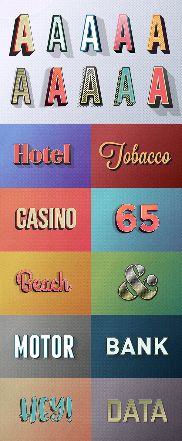 Free Retro Text Effect Graphic Styles