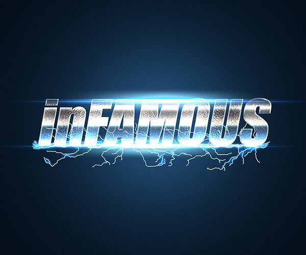 How to Create an inFamous Inspired Text Effect in Adobe Photoshop