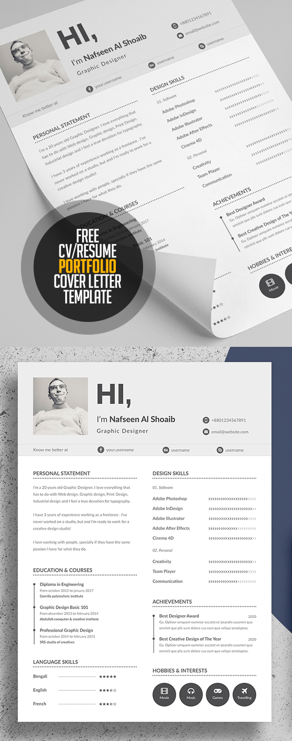 fresh resume templates bies graphic design junction resume cv portfolio and cover letter template