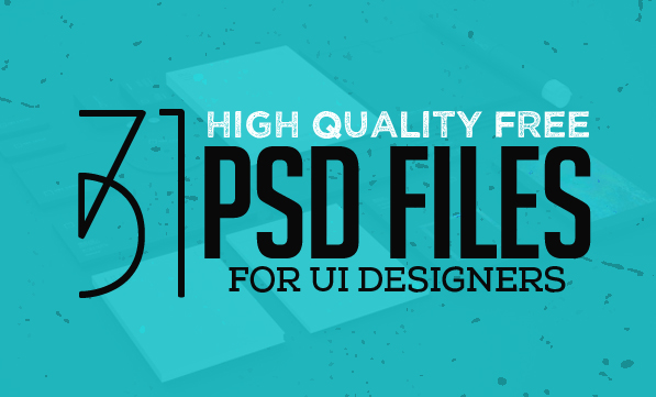31 New Useful Free Photoshop PSD Files for UI Designers