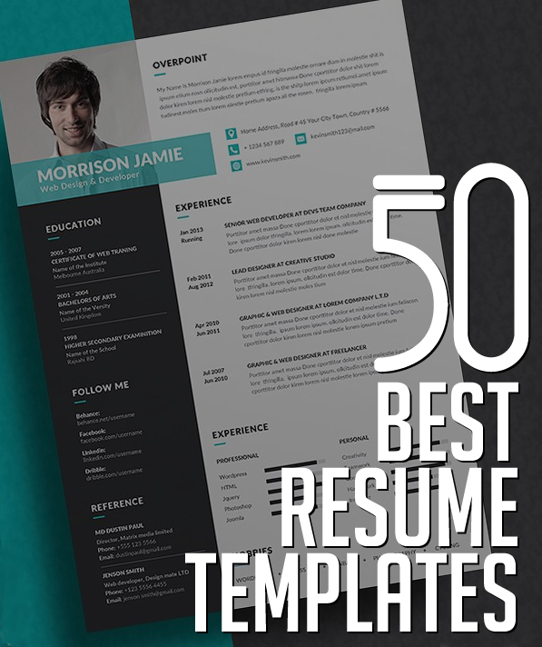 Best Fonts For Graphic Design Resume  Graphic Designer Resume Template