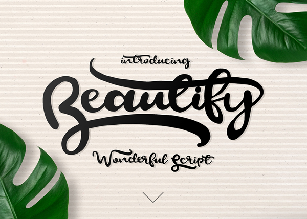 Beautify Wonderful Free Script Font