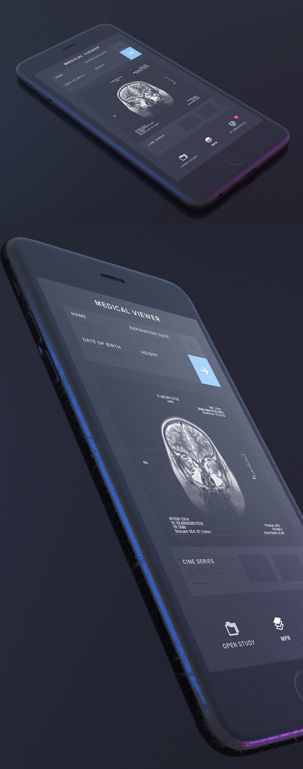 Free Dark iPhone Mockup PSD