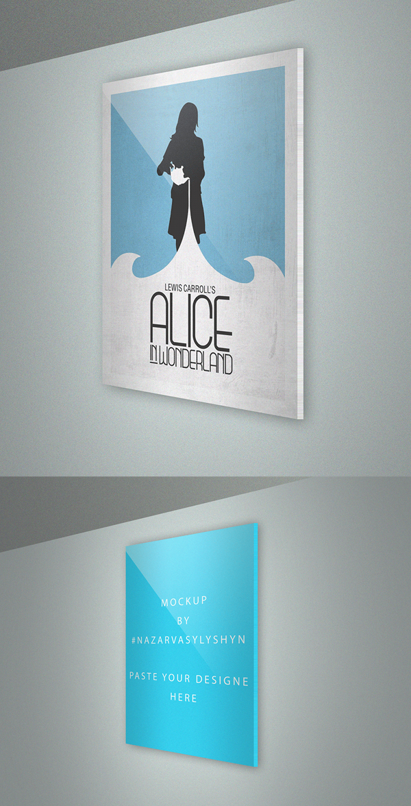 Free Realistic Poster Mockup PSD
