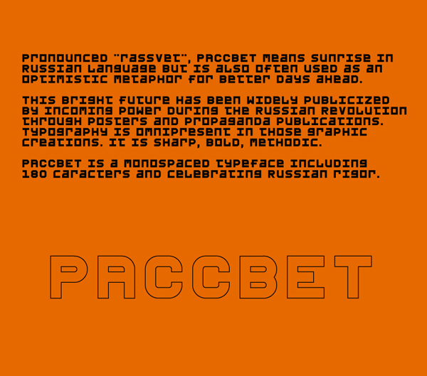 PACCBET Free Font